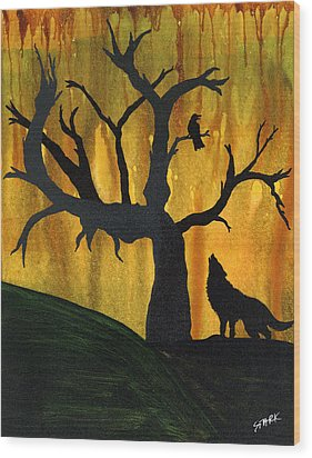 The Call And Response Of The Wild Wood Print by Jim Stark