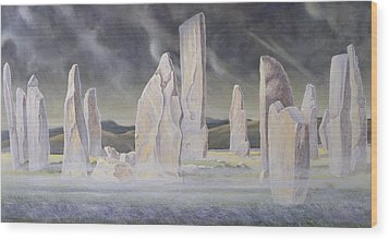 The Callanish Legend Isle Of Lewis Wood Print by Evangeline Dickson