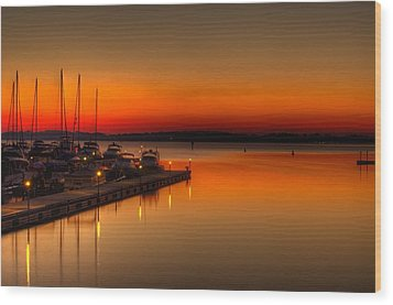 Wood Print featuring the photograph The Calm by Serge Skiba
