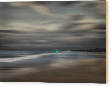 The Calming Sea Wood Print by Gary Smith