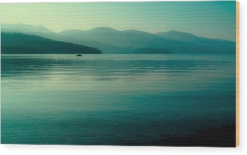 The Calmness Of Priest Lake Wood Print by David Patterson