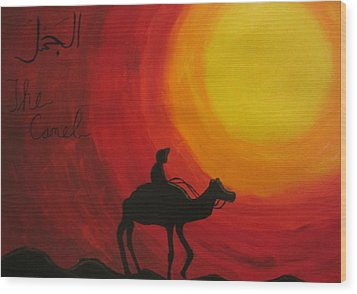 The Camel Wood Print by Haleema Nuredeen