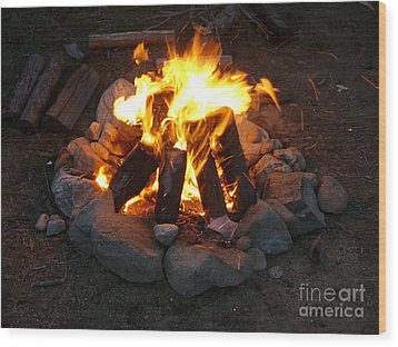 The Campfire Wood Print