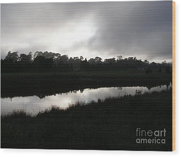 The Canal Wood Print by Bev Conover