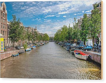 Wood Print featuring the photograph The Canal by Brent Durken