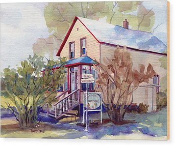 The Candy Shoppe Wood Print by Kris Parins