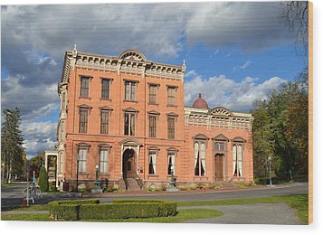 The Canfield Casino Saratoga Springs Wood Print