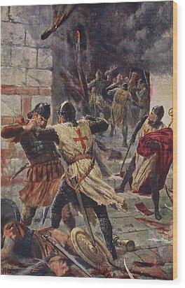 The Capture Of Constantinople Wood Print by John Harris Valda
