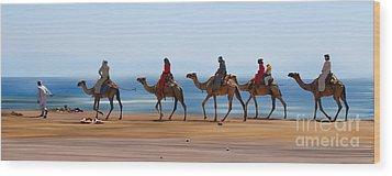 The Caravan Wood Print by Hannes Cmarits