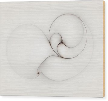 Wood Print featuring the digital art The Caress by Casey Kotas