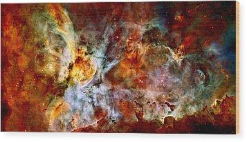 The Carina Nebula Wood Print by Amanda Struz