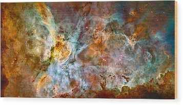 The Carina Nebula - Star Birth In The Extreme Wood Print