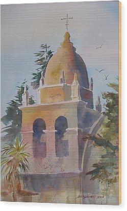 The Carmel Mission Wood Print by John  Svenson