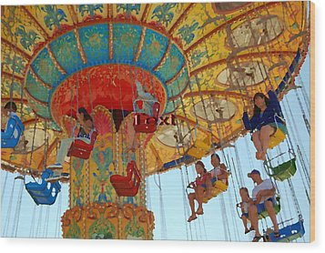 Wood Print featuring the photograph The Carnival by Tamyra Crossley