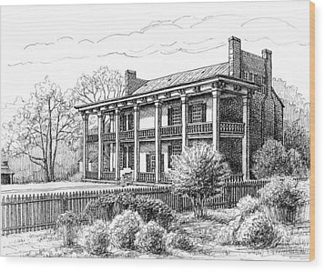 The Carnton Plantation In Franklin Tennessee Wood Print by Janet King
