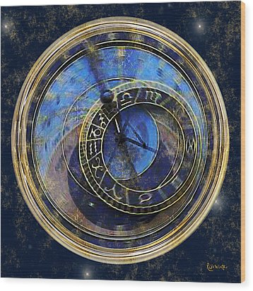 The Carousel Of Time Wood Print by RC deWinter