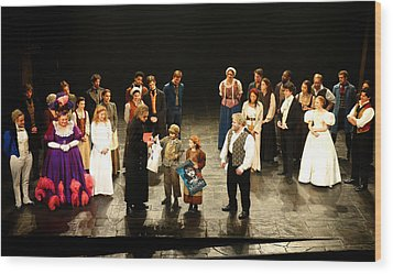 The Cast Of Les Miserables Wood Print