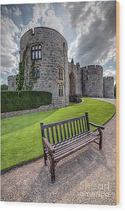 The Castle Bench Wood Print by Adrian Evans