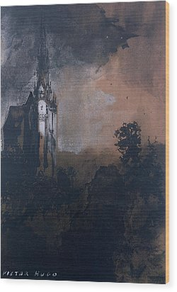 The Castle In The Moonlight  Wood Print by Victor Hugo