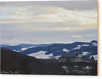 Wood Print featuring the photograph The Castle In Winter Look 2 by Felicia Tica