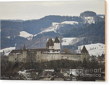 Wood Print featuring the photograph The Castle In Winter Look by Felicia Tica