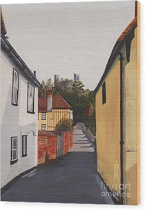 The Castle Keep Wood Print by Shirley Miller