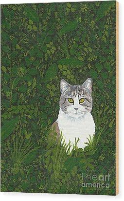 The Cat Wood Print