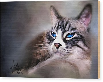 The Cat Wood Print by Robert Smith