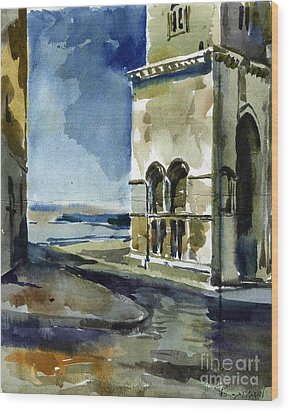 The Cathedral Of Trani In Italy Wood Print by Anna Lobovikov-Katz