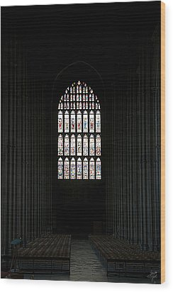 The Cathedral Sits Empty Wood Print by Lisa Knechtel