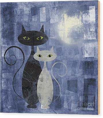 The Cats Wood Print by Jelena Jovanovic