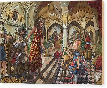 The Cave Of Ali Baba Wood Print by Reynold Jay