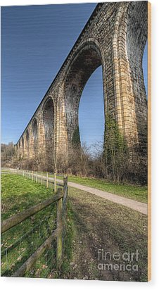 The Cefn Mawr Viaduct Wood Print by Adrian Evans