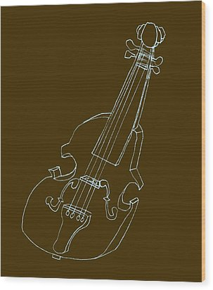 The Cello Wood Print by Michelle Calkins