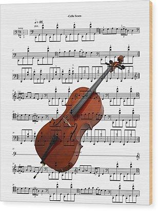 The Cello Wood Print by Ron Davidson