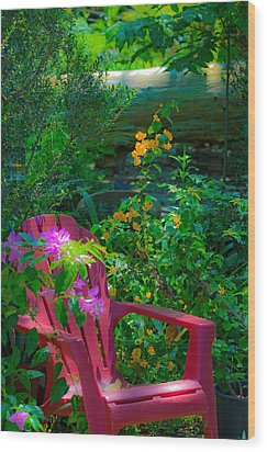 Wood Print featuring the photograph The Chair by Allen Biedrzycki