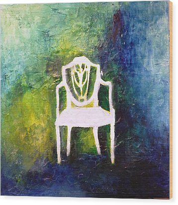 The Chair Wood Print by Andrea Friedell