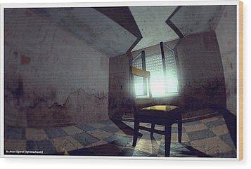The Chair Wood Print by Anton Egorov