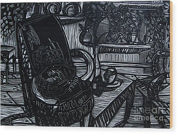 The Chair Of My Dreams Wood Print by Charlie Spear