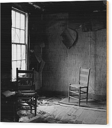 The Chair Wood Print by Wendell Thompson