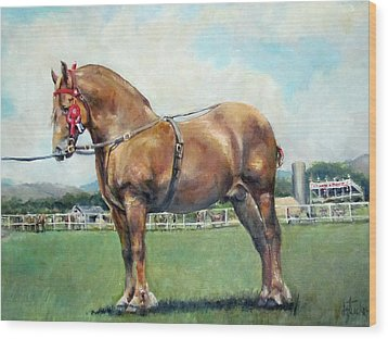 Wood Print featuring the painting The Champ by Donna Tucker