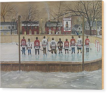 The Champs - 2013 Stanley Cup  Wood Print by Ron  Genest