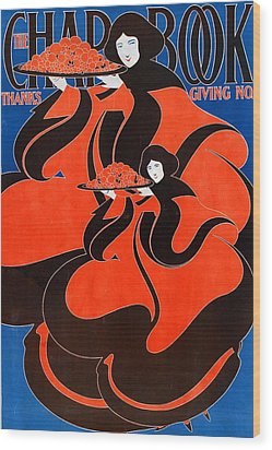 The Chap Book  Thanksgiving Issue Wood Print by WH Bradley