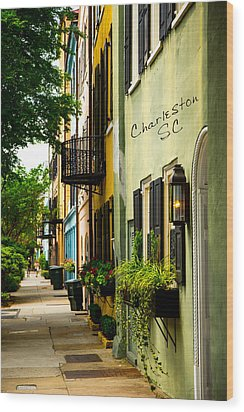 The Charm Of Charleston Wood Print