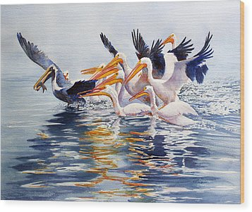 The Chase Of The Outsider Wood Print by Roger Rockefeller