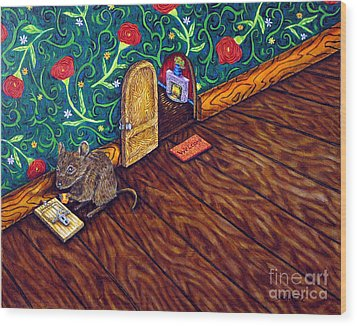 The Cheese Thief Wood Print by Jay  Schmetz