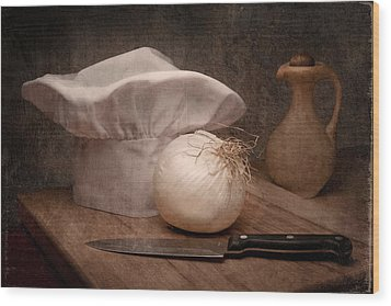 The Chef Wood Print by Tom Mc Nemar