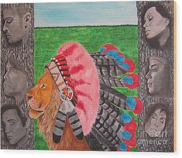 The Cherokees Wood Print by Jeepee Aero