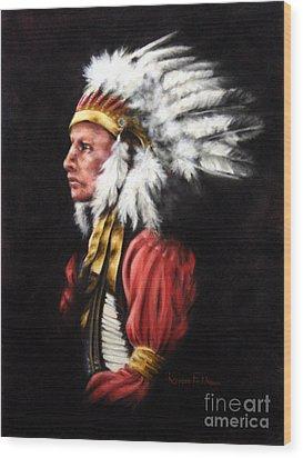 The Chief 2 Wood Print by Karen Elkan