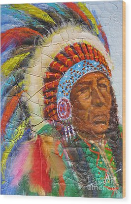 The Chief Wood Print by Mohamed Hirji